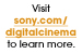Graphic: Sony Digital Cinema Web Site
